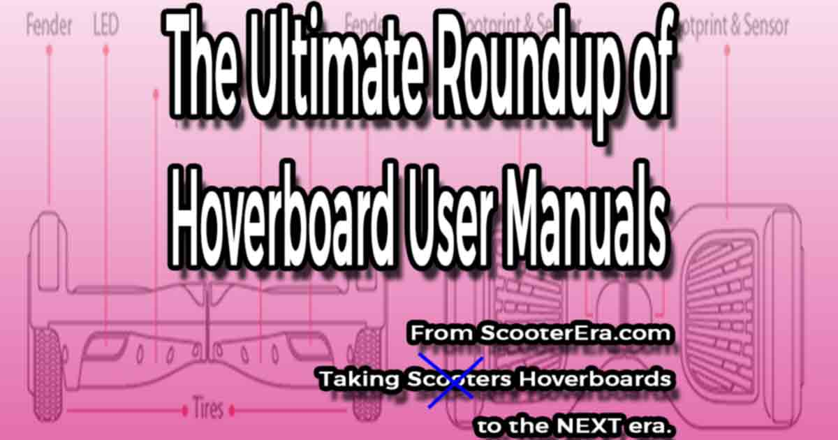 hoverboard user manuals for multiple brands