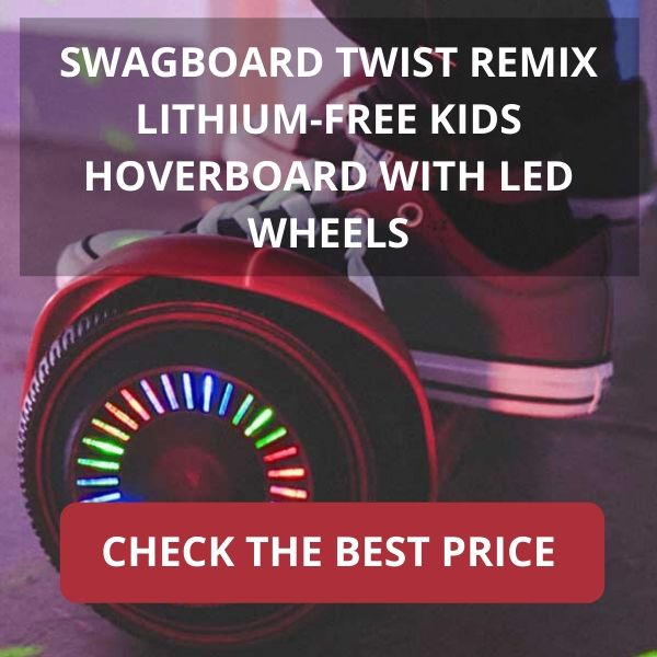 SWAGBOARD TWIST REMIX LITHIUM-FREE KIDS HOVERBOARD WITH LED WHEELS $129.99