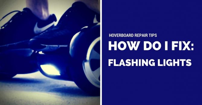 My hoverboard has red flashing lights, how do I fix it